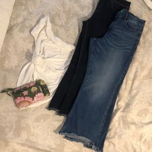 2 pair jeans - a little cropped with flair